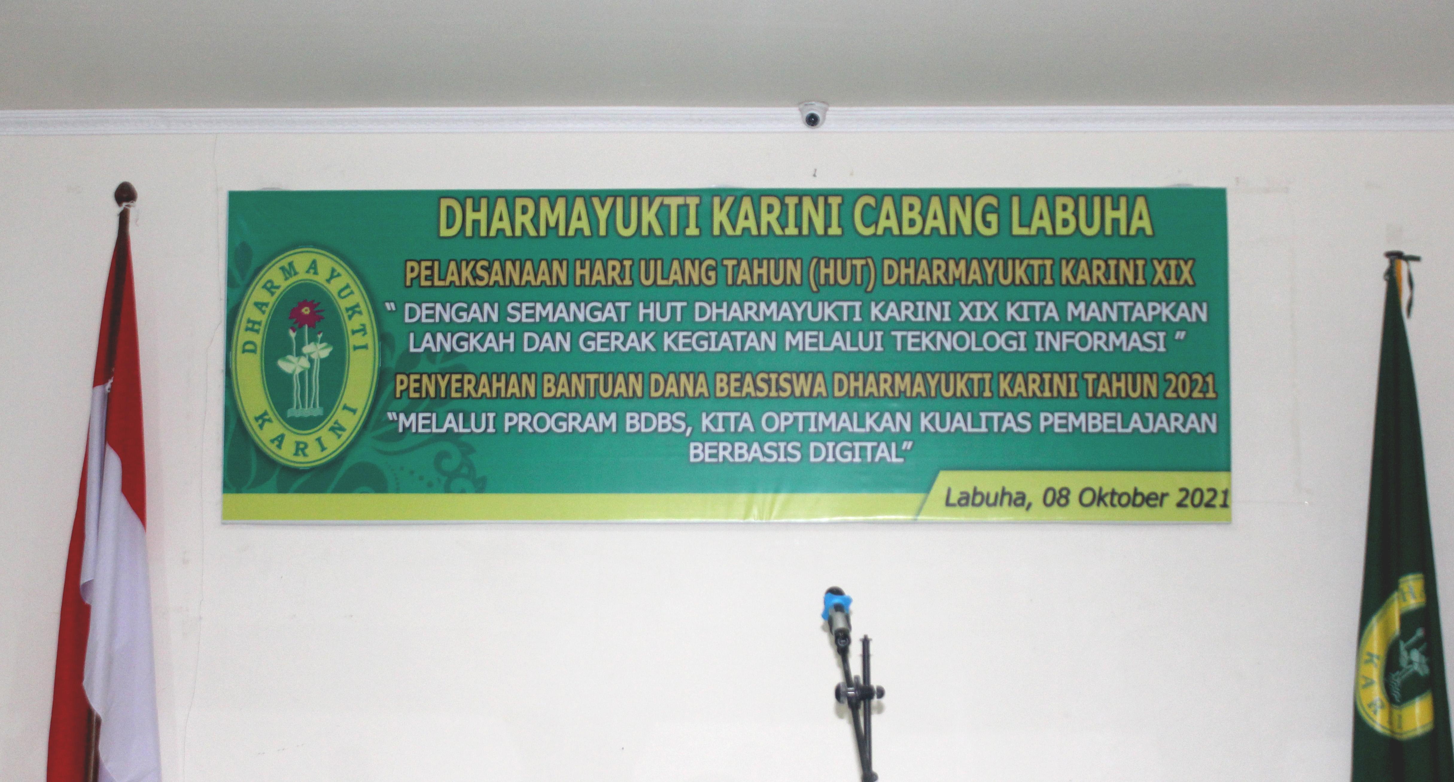 Pelaksanaan Hari Ulang Tahun Dharmayukti Karini Ke XIX dan Penyerahan Bantuan Dana Beasiswa Tahun 2021